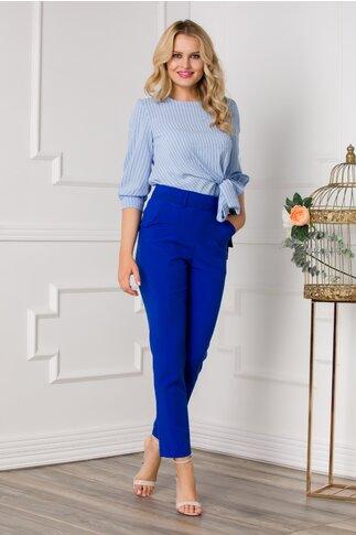 Pantaloni Moze office albastri