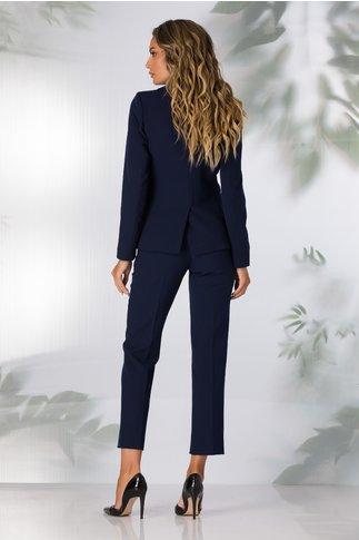 Pantaloni Moze office bleumarin cu dunga