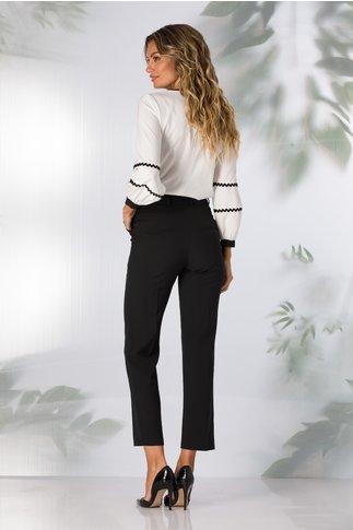 Pantaloni Moze office negri cu dunga