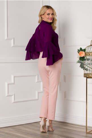 Pantaloni Moze office roz