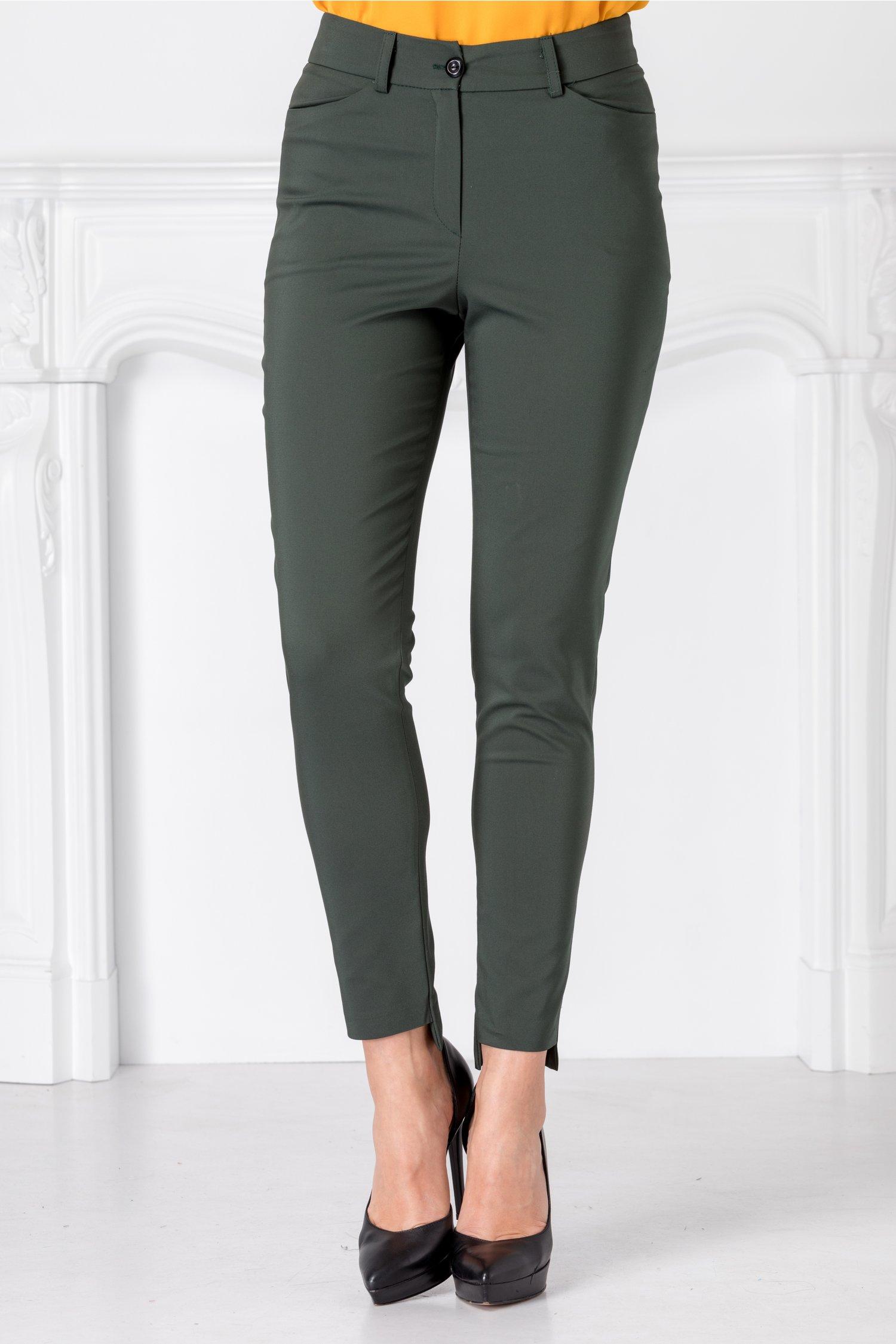 Pantaloni Moze verde kaki slim