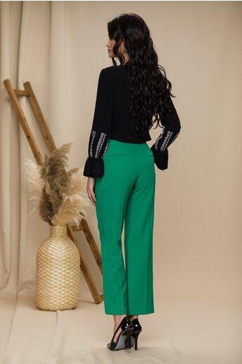 Pantaloni Moze verzi cu buzunare