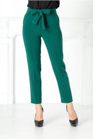 Pantaloni Moze verzi drepti cu dunga