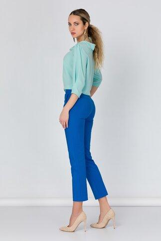 Pantaloni Netalia albastri office