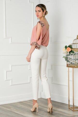 Pantaloni Netalia albi office