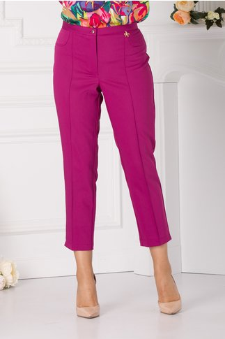 Pantaloni office fucsia