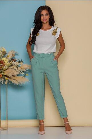 Pantaloni Rini verde mint conici