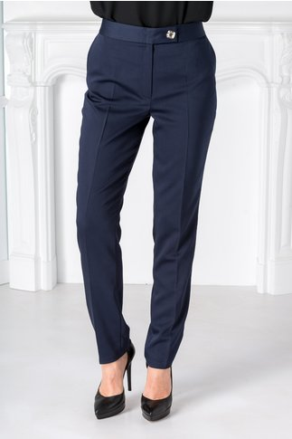 Pantaloni Selena office bleumarin