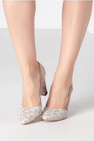 Pantofi bej cu imprimeu degrade