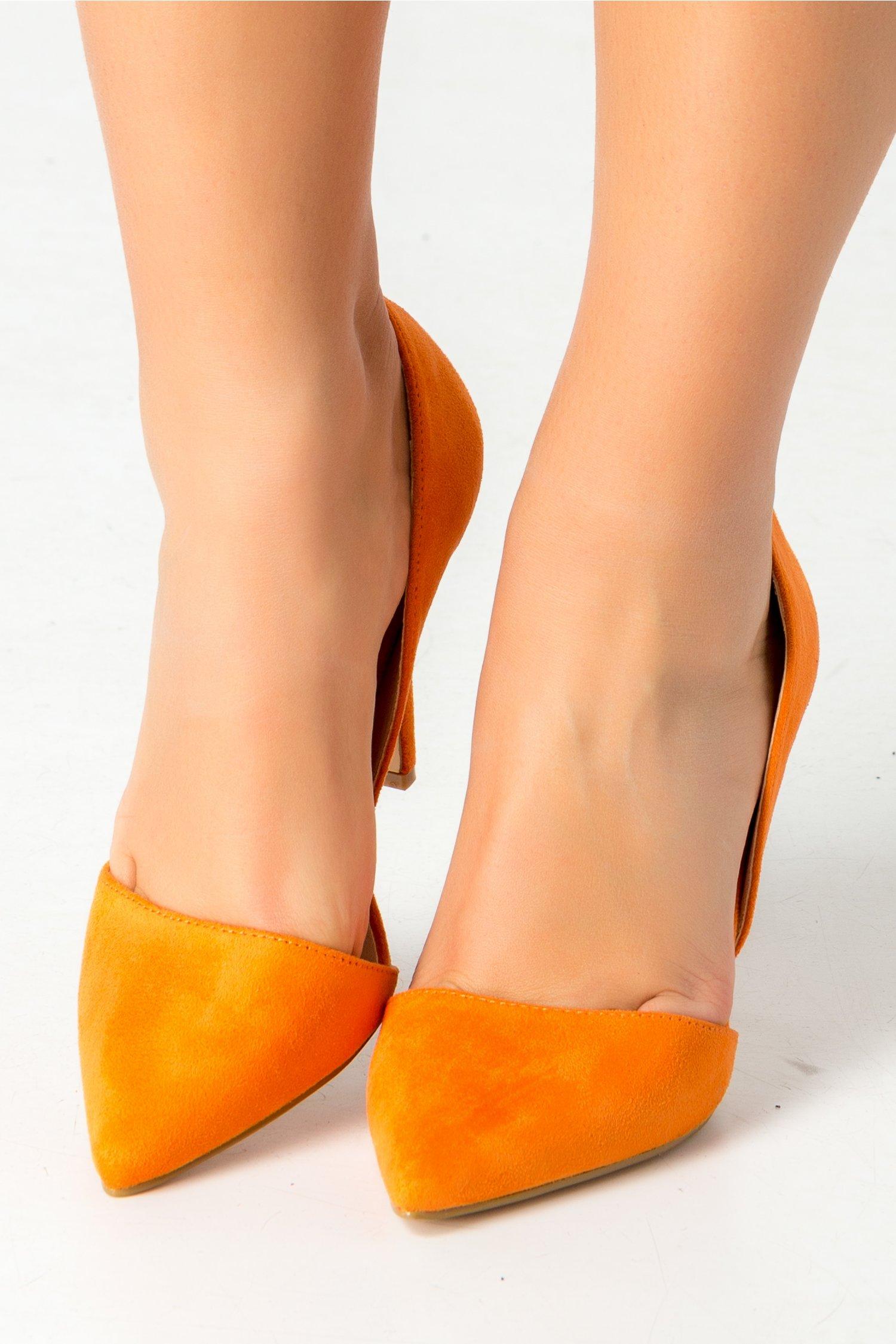 Pantofi Belvan stiletto oranj