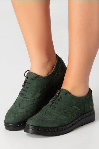 Pantofi Cezara verzi