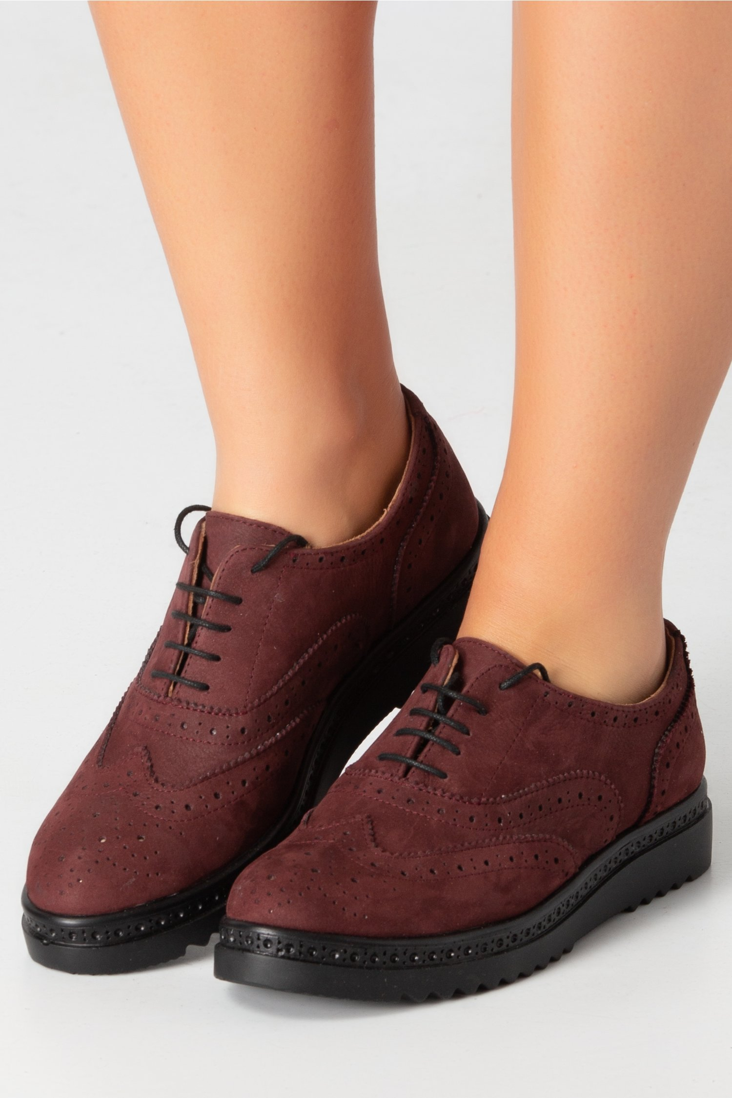 Pantofi Cezara visiniu