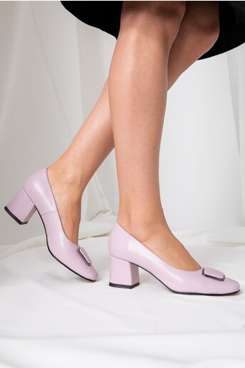 Pantofi Daria lila cu aplicatie pe varf