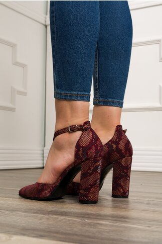 Pantofi decupati bordo cu imprimeu reflectorizant