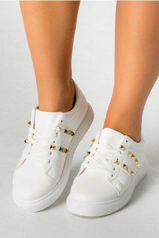Pantofi sport Hond albi cu tinte