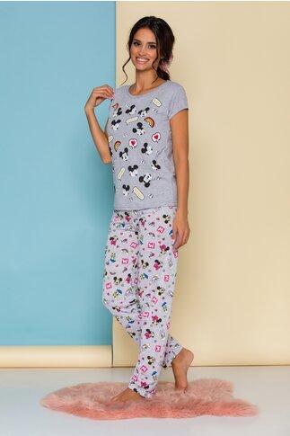 Pijama Disney gri cu imprimeu