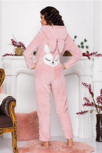 Pijama intreaga Reindeer roz