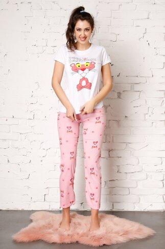 Pijama Pink Panther cu imprimeu