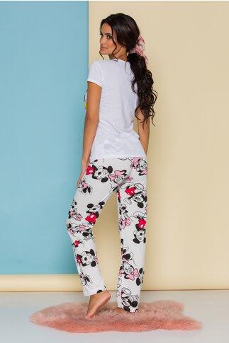 Pijama Super Love alba cu imprimeu