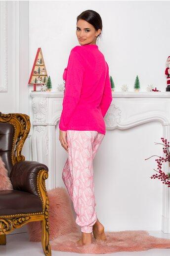 Pijama Sweety roz cu ursulet