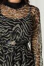 Rochie Alia din tull cu zebra print