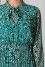 Rochie Alina verde mint cu picatele si fusta plisata