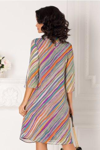 Rochie Aliss vaporoasa cu imprimeu multicolor