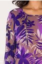 Rochie Aliss vaporoasa mov cu imprimeu floral