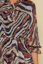 Rochie Alma cu imprimeuri maro