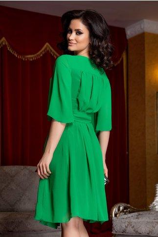 Rochie Alma verde din voal