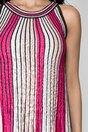 Rochie Anais cu dungi roz in linie A