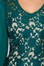 Rochie Anais de ocazie cu broderie florala verde
