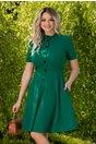 Rochie Anca verde cu nasturi la bust