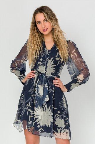 Rochie Andra bleumarin cu imprimeuri florale