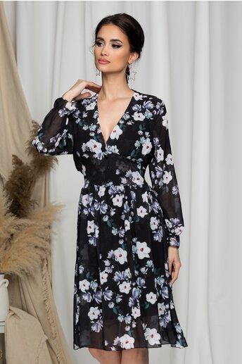 Rochie Andrada neagra cu imprimeu floral