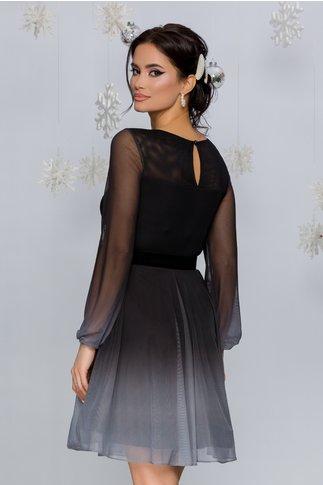 Rochie Andreea negru cu gri in degrade