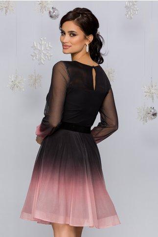 Rochie Andreea negru cu roz in degrade