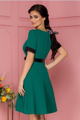 Rochie Anisia verde cu curea in talie