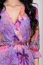 Rochie Beatrice lila cu imprimeu floral