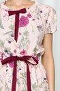 Rochie Belina roz cu imprimeu floral colorat