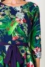Rochie Bella bleumarin cu imprimeuri florale