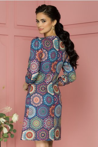 Rochie Bloomy cu indian prints