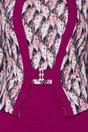 Rochie Bruno magenta cu imprimeuri multicolore