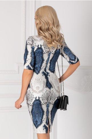 Rochie Camelia cu imprimeu tip sarpe