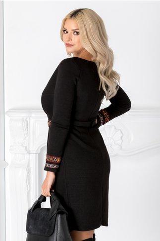 Rochie Cami neagra cu motive traditionale