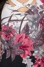 Rochie Carla neagra in degrade cu imprimeu floral