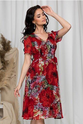 Rochie Carry rosie cu imprimeuri florale