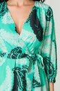 Rochie Cati verde mint cu imprimeuri diverse
