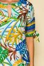Rochie Chisca alba cu imprimeu exotic