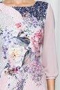 Rochie Clara cu picatele si imprimeu floral